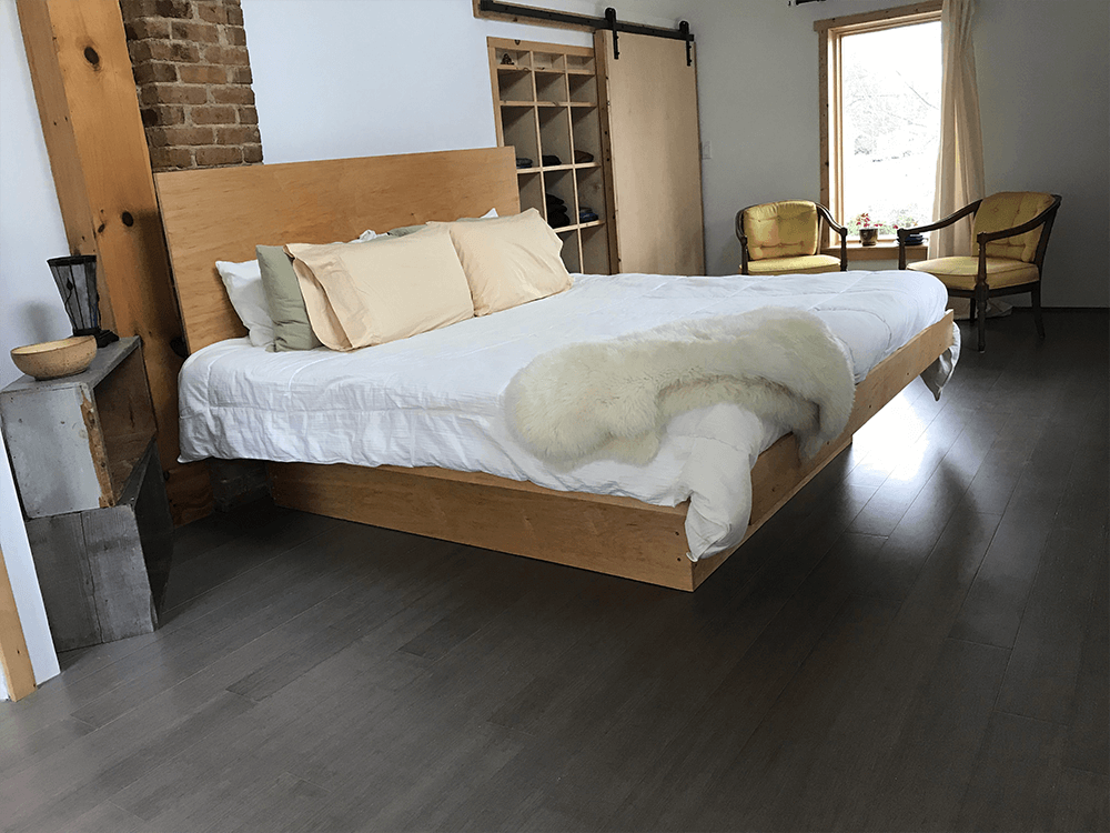 Bed made with Bamboo | Hampton Flooring Center