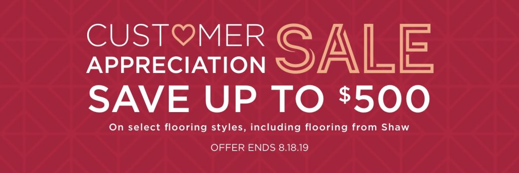 Customer Appreciation Sale | Hampton Flooring Center